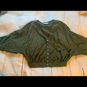 Vici dolls olive green top